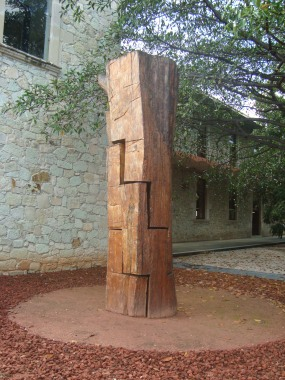 A sculpture at the Jardín Etnobotánico de Oaxaca (photo courtesy of the Jardín Etnobotánico de Oaxaca)