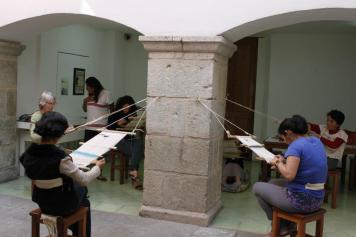 Workshop at the Museo de Textil Oaxaca