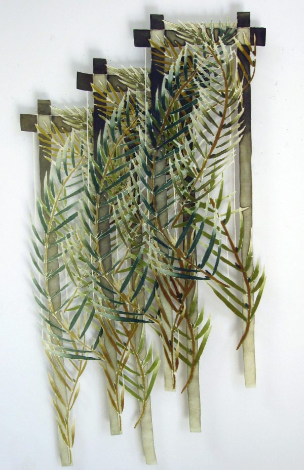 "Joy Stocksdale, Green Palm Leaves, 30"" x 60"""