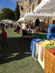 The colorful stands of the vendors market. Photo courtesy of Catharine Ellis