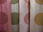 Photo copyright Catharine Ellis. Jacquard woven, pima cotton Various natural dyes
