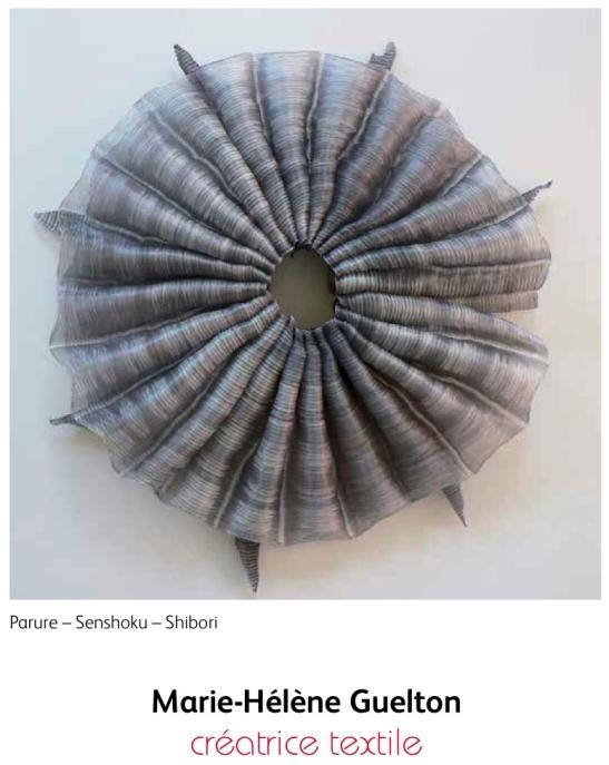 Parure-Shokuko-Shibori by Marie-Hélène Guelton. Copyright Marie-Hélène Guelton.