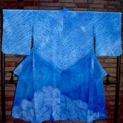 Shibori Rainclouds Blue Mountains 03