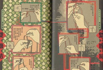 A page from the Chinese Knotting Technique book, published by Han Shen in Taiwan