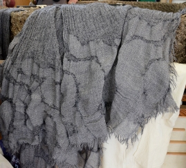 Texture on wool, created with fulling paste