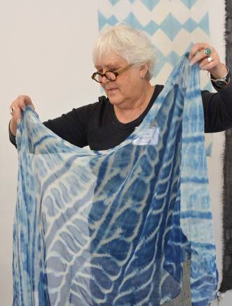 A finished shibori piece; Photo courtesy:Arrowmont