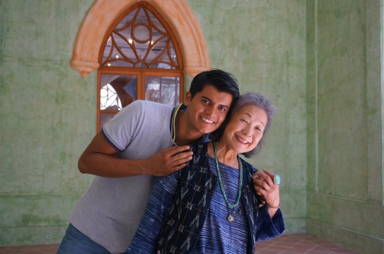Yoshiko Wada and our wonderful guide Giovanni (a botanist and chemist) pose for a picture at CASA. Photo by Guo Jiang.