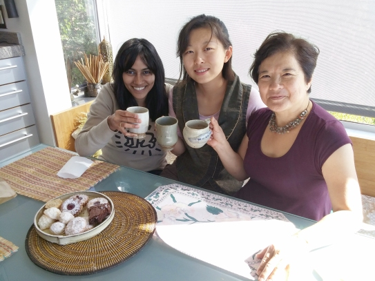 "Left to Right: Social Media Director Anupama Ravi, WSN Intern Guo ""Jam"" Jiang, and WSN Office Manager Carol Nakaso."