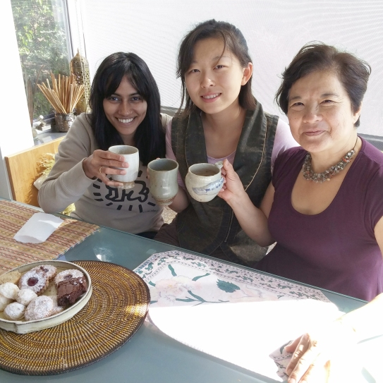 "Left to Right: Social Media Director Anupama Ravi, WSN Intern Guo ""Jam"" Jiang, and WSN Office Manager Carol Nakaso."