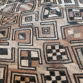 Detail image of one of the Kuba cloth textiles from Marcia Donahue's collection