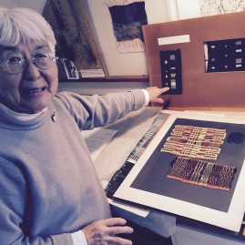-Kay Sekimachi sharing her earliest of weavings when first studying with Trude Guermonprez