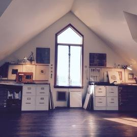 - Kay Sekimachi's beautiful sunlit studio space in her Berkely home