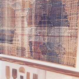 Close-up of the fine detail in Kay Sekimachi's weaving