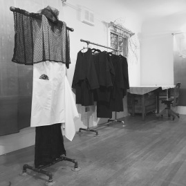 Carol Lee Shank's collection of women's wear on view in her Berkeley studio showroom