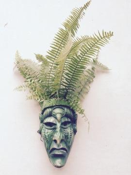Hand-carved mask - Boruca, Costa Rica