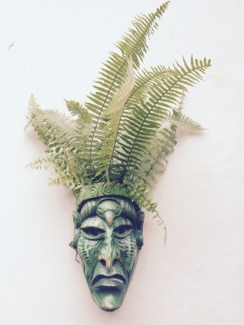 Hand-carved mask - Boruca, Costa Rica