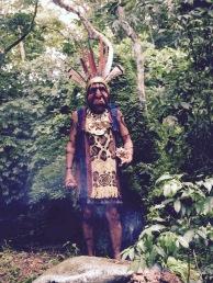 Costumed man - Boruca, Costa Rica
