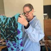 Edie Brown with her finished piece