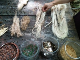 Traditional materials used for paper making