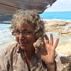 Sheri with 3000 year old murex shell